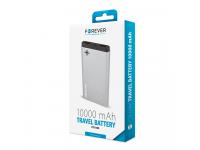 Baterie Externa Powerbank Forever PTB-04M 10000 mA, 2 x USB, Gri, Blister