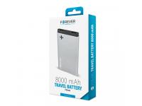 Baterie Externa Powerbank Forever PTB-04S 8000 mA, 2 x USB, Gri, Blister
