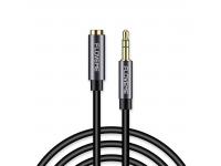 Adaptor Audio 3.5 mm la 3.5 mm Floveme Aux YXF93655, 1 m, Negru, Bulk