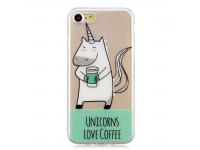 Husa TPU OEM Unicorn pentru Apple iPhone 7 / Apple iPhone 8, Multicolor, Bulk
