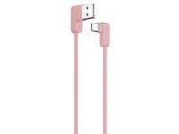 Cablu Date si Incarcare USB la USB Type-C Usams U-Flow SJ-167, 1.2 m, Roz, Blister