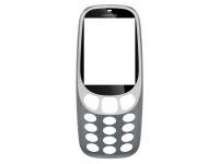 Carcasa fata Gri Deschis Nokia 3310 (2017)