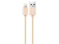 Cablu Date si Incarcare USB la Lightning DEVIA MFI, 1.2 m, Auriu, Blister