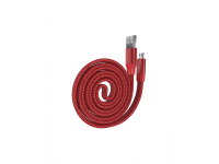 Cablu Date si Incarcare USB la MicroUSB DEVIA Ring Y1, 0.8 m, Rosu, Blister