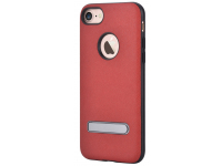 Husa TPU DEVIA iStand pentru Apple iPhone 7 / Apple iPhone 8, Rosie, Blister