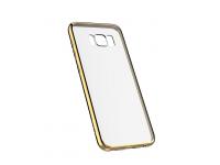 Husa TPU DEVIA pentru Apple iPhone 7 / Apple iPhone 8, Aurie - Transparenta, Blister