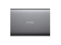 Baterie Externa Powerbank Vinsic VSPB207 cu afisaj, 15000 mA, 2 x USB, Gri, Blister