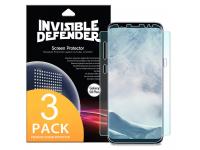 Folie Protectie Ecran Ringke pentru Samsung Galaxy S8+ G955, Plastic, Full Face, Set 3 Buc, Blister