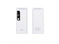 Baterie Externa Powerbank HOCO PS B27 cu afisaj, 15000 mA, 2 x USB, Alba, Blister
