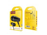 Handsfree Casti In-Ear HOCO Honor music M34, Cu microfon, 3.5 mm, Negru, Blister