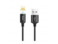 Cablu Incarcare USB la Lightning HOCO Magnetic U28, 1 m, Negru, Blister