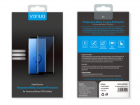 Folie Protectie Ecran Vonuo pentru Samsung Galaxy S9+ G965, Sticla securizata, Full Face, Neagra, Blister VO-090502025