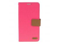 Husa Textil Roar Simply Life pentru Sony Xperia M5, Roz, Blister