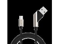 Cablu Date si Incarcare USB la USB Type-C Soultech Platinum DK028S, 1 m, Negru, Blister