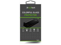 Folie Protectie Ecran Soultech pentru Apple iPhone 7 Plus / Apple iPhone 8 Plus, Sticla securizata, Full Face, Platinum EK803S, Neagra, Blister