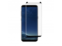 Folie Protectie Ecran Soultech pentru Samsung Galaxy S8+ G955, Sticla securizata, Full Face, Platinum EK806S, Neagra, Blister