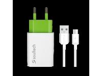 Incarcator Retea cu cablu USB Tip-C Soultech Comfort SC213B, Quick Charge, 2A, 1 X USB, Alb, Blister