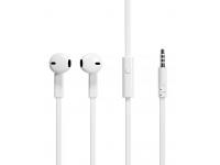 Handsfree Casti EarBuds Soultech Comfort Strong Flat, KK007B, Cu microfon, 3.5 mm, Alb, Blister