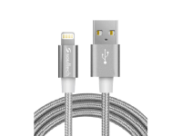 Cablu Date si Incarcare USB la Lightning Soultech Metal Rope DK035G, 1 m, Gri, Blister