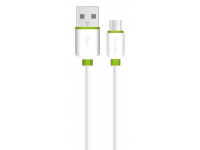 Cablu Date si Incarcare USB la USB Type-C Soultech Comfort DK040B, 2 m, Alb, Blister