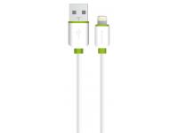 Cablu Date si Incarcare USB la Lightning Soultech Comfort DK038B, 2 m, Alb, Blister