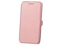 Husa Piele OEM Smart Pocket pentru Apple iPhone 7 / Apple iPhone 8, Roz Aurie, Bulk