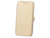 Husa Piele OEM Smart Pocket pentru Apple iPhone 7 / Apple iPhone 8, Aurie, Bulk