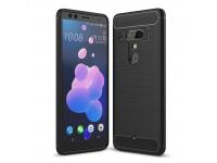 Husa TPU OEM Carbon pentru HTC U12+, Neagra, Blister