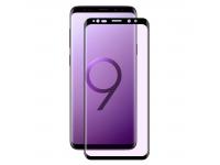 Folie Protectie Ecran Enkay pentru Samsung Galaxy S9 G960, Sticla securizata, Full Face, Anti Blue-ray, Neagra, Blister