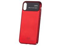 Husa Plastic Mofi Glass Case pentru Apple iPhone X, Rosie, Blister