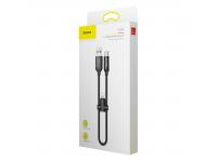 Cablu Date si Incarcare USB la Lightning - USB la USB Type-C Baseus U-Shaped, 0.23 m, Negru, Blister