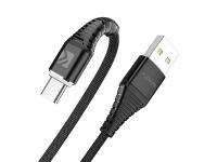 Cablu Date si Incarcare USB la Lightning Floveme, 2A, LED, 1 m, Negru, Blister