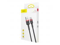Cablu Date si Incarcare USB la USB Type-C Baseus Kevlar, 2A, 2 m, Negru, Blister