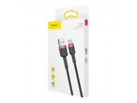 Cablu Date si Incarcare USB la USB Type-C Baseus Kevlar, 0.5 m, Negru, Blister