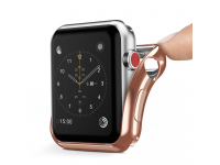 Husa TPU DUX DUCIS pentru Apple Watch Edition series 1/2/3 42mm, Roz Aurie, Blister