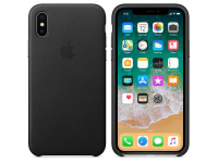 Husa Piele Apple iPhone XS / Apple iPhone X, Neagra, Blister AP-MRWM2ZM/A