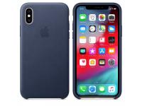Husa Piele Apple iPhone XS Max, Bleumarin, Blister AP-MRWU2ZM/A