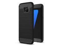Husa TPU OEM Carbon pentru Samsung Galaxy S7 G930, Neagra, Bulk