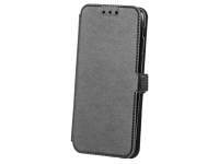 Husa Piele OEM Smart Pocket pentru Samsung Galaxy A8+ (2018) A730, Neagra, Bulk