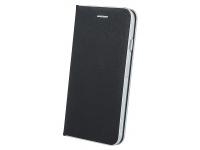 Husa Piele OEM Smart Venus pentru Samsung Galaxy A6+ (2018) A605, Neagra, Bulk