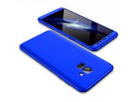 Husa Plastic OEM Full cover pentru Samsung Galaxy A6+ (2018) A605, Albastra, Bulk