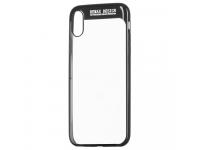 Husa TPU Remax Modi pentru Apple iPhone X / Apple iPhone XS, Neagra - Transparenta, Blister
