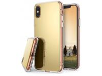 Husa TPU Ringke Mirror pentru Apple iPhone X / Apple iPhone XS, Aurie, Blister