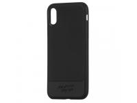 Husa TPU Remax Vigor pentru Apple iPhone X / Apple iPhone XS, Neagra, Blister