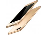 Husa Plastic - TPU OEM Full Cover pentru Apple iPhone 7 Plus / Apple iPhone 8 Plus, Aurie, Bulk