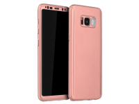 Husa Plastic OEM Full Cover pentru Samsung Galaxy S8+ G955, Roz Aurie, Bulk
