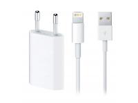Incarcator Retea cu cablu Lightning Apple A1300 MB707ZM/A, 1 X USB, Alb, Bulk