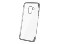 Husa TPU OEM Electro pentru Samsung Galaxy A6 (2018) A600, Argintie - Transparenta, Bulk