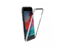 Husa Aluminiu OEM Magnetic Frame Hybrid cu spate din sticla pentru Apple iPhone 6 / Apple iPhone 6s, Argintie, Bulk