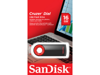 Memorie Externa SanDisk Cruzer Dial, USB 2.0, 16Gb, Neagra, Blister SDCZ57-016G-B35